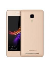 Telefon Mobil Leagoo Z3c, Dual SIM 3G, 4.5 inch, Quad-Core, 8GB, Android 6.0, Auriu, BUNDLE (include Husa, Casti si Folie)